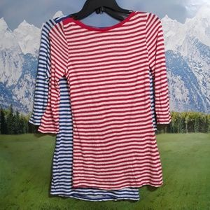Preloved twins Old Navy size S/P striped tops